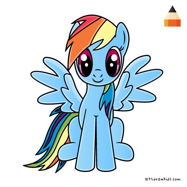 600x600 How To Draw Rainbow Dash