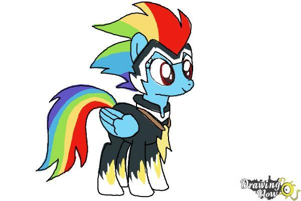 600x400 How To Draw Rainbow Dash, Zapp From Power Ponies
