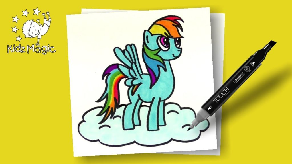 1024x576 My Little Pony Coloring Pages Rainbow Dash Drawing For Kids