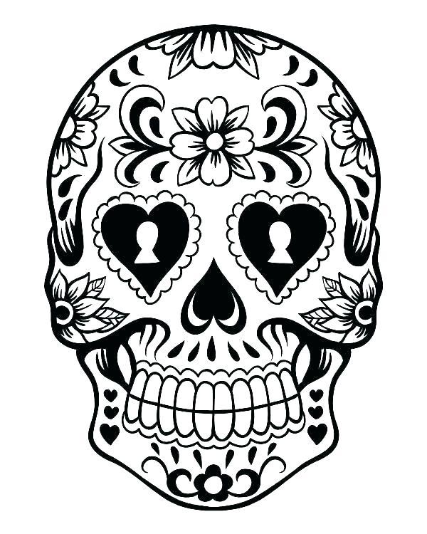 600x750 sugar skull coloring sheet sugar skull coloring pages free