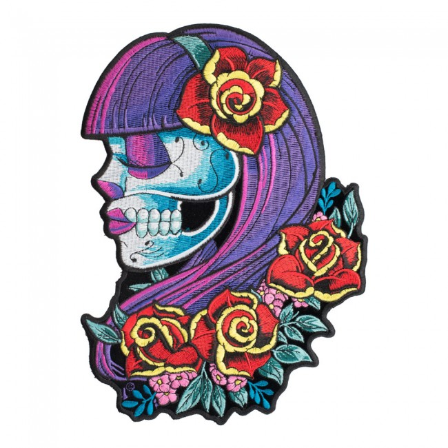 650x650 day of the dead violeta candy skull patch sugar skull patch