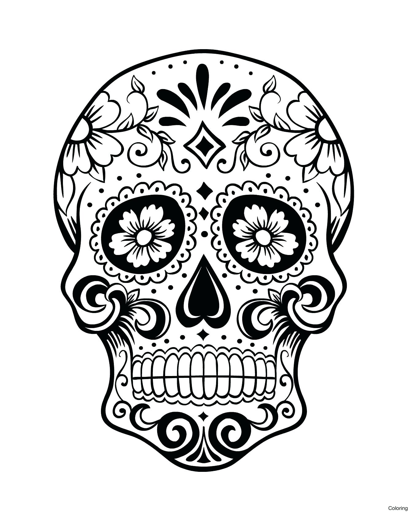 1339x1670 Day Of The Dead Skull Coloring Pages New Sugar Sheets For Kids