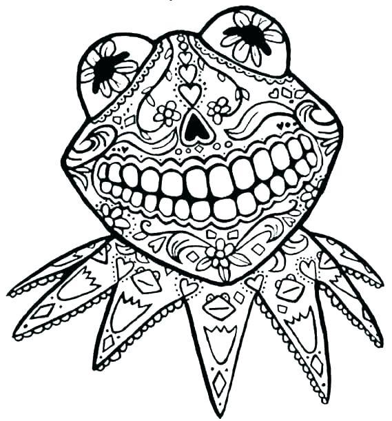 569x611 Dia De Los Muertos Skull Drawing Sugar Set Day Of The Dead Vector