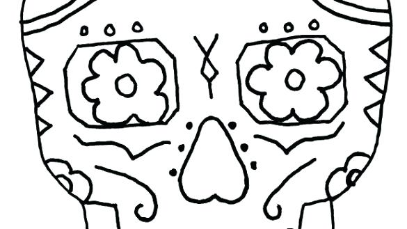 585x329 Draw Shapes On Sugar Skull Drawing Template C Constructor How