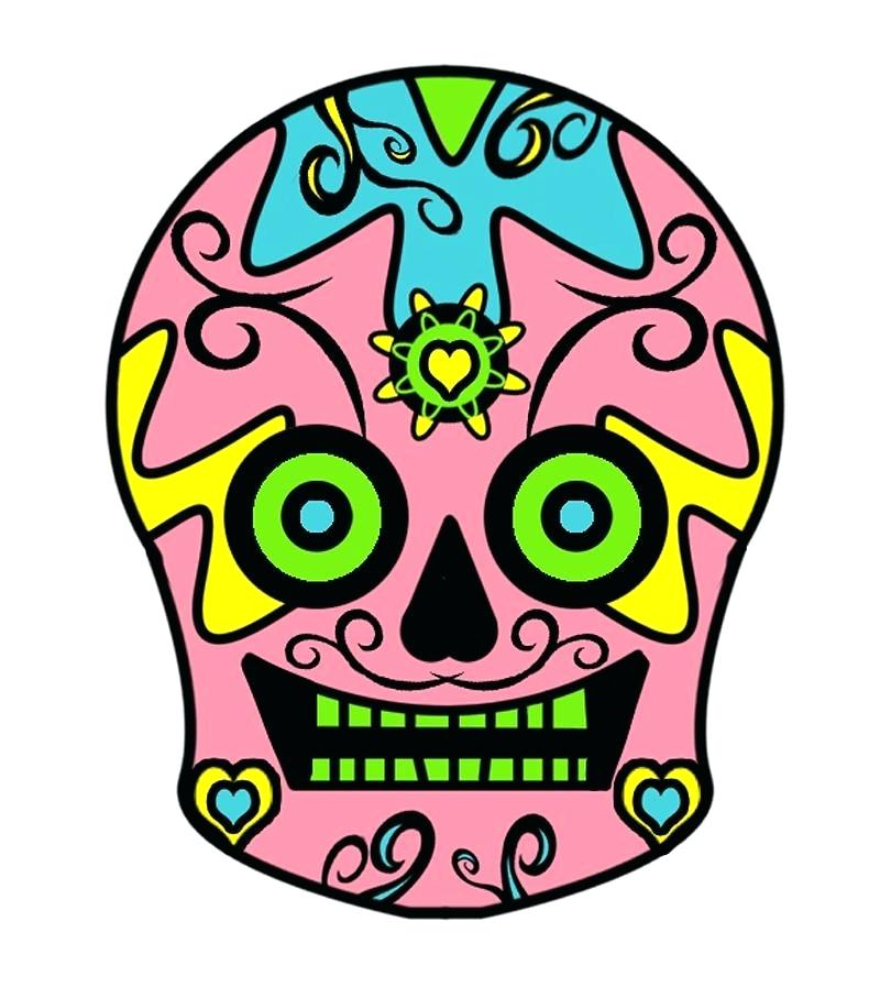 810x897 Sugar Skull Simple Easy Drawings Of Skulls License Personal Use
