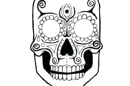 450x300 Day Of The Dead Skull Drawing Tannertaylor
