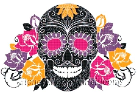 570x405 Colored Day Dead Sugar Skull Ornament Stock Vector Royalty Free
