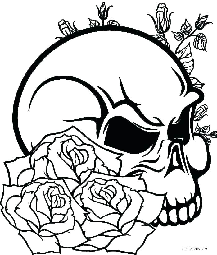 699x820 Cool Skull Coloring Pages Skull Coloring Pages With Day