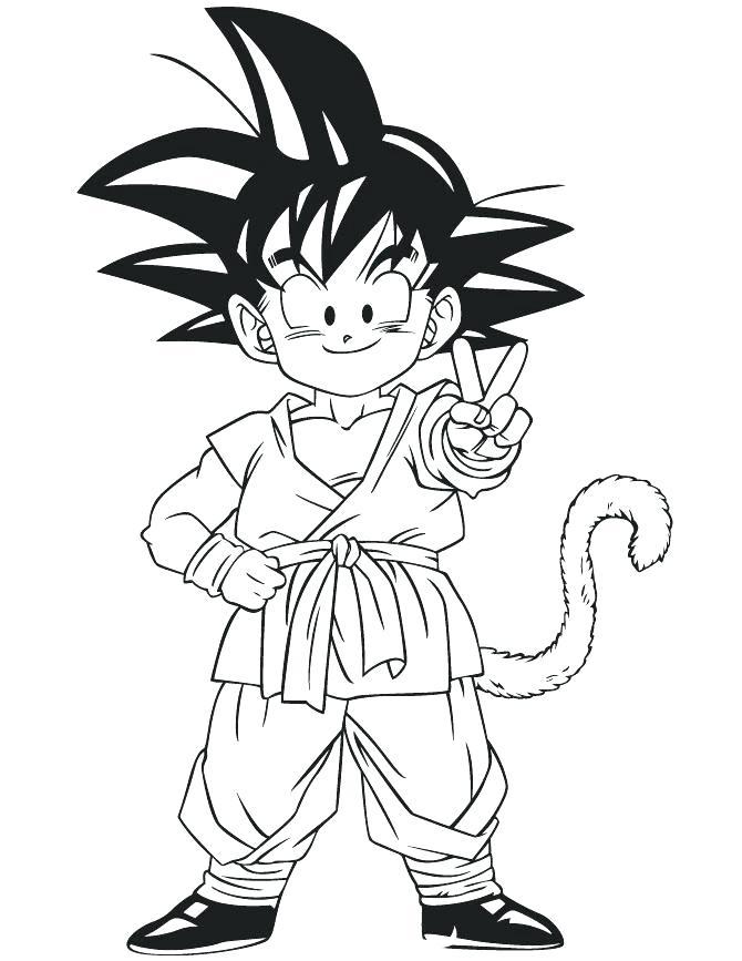 Dbz Goku Drawing Free Download Best Dbz Goku Drawing On Clipartmag Com