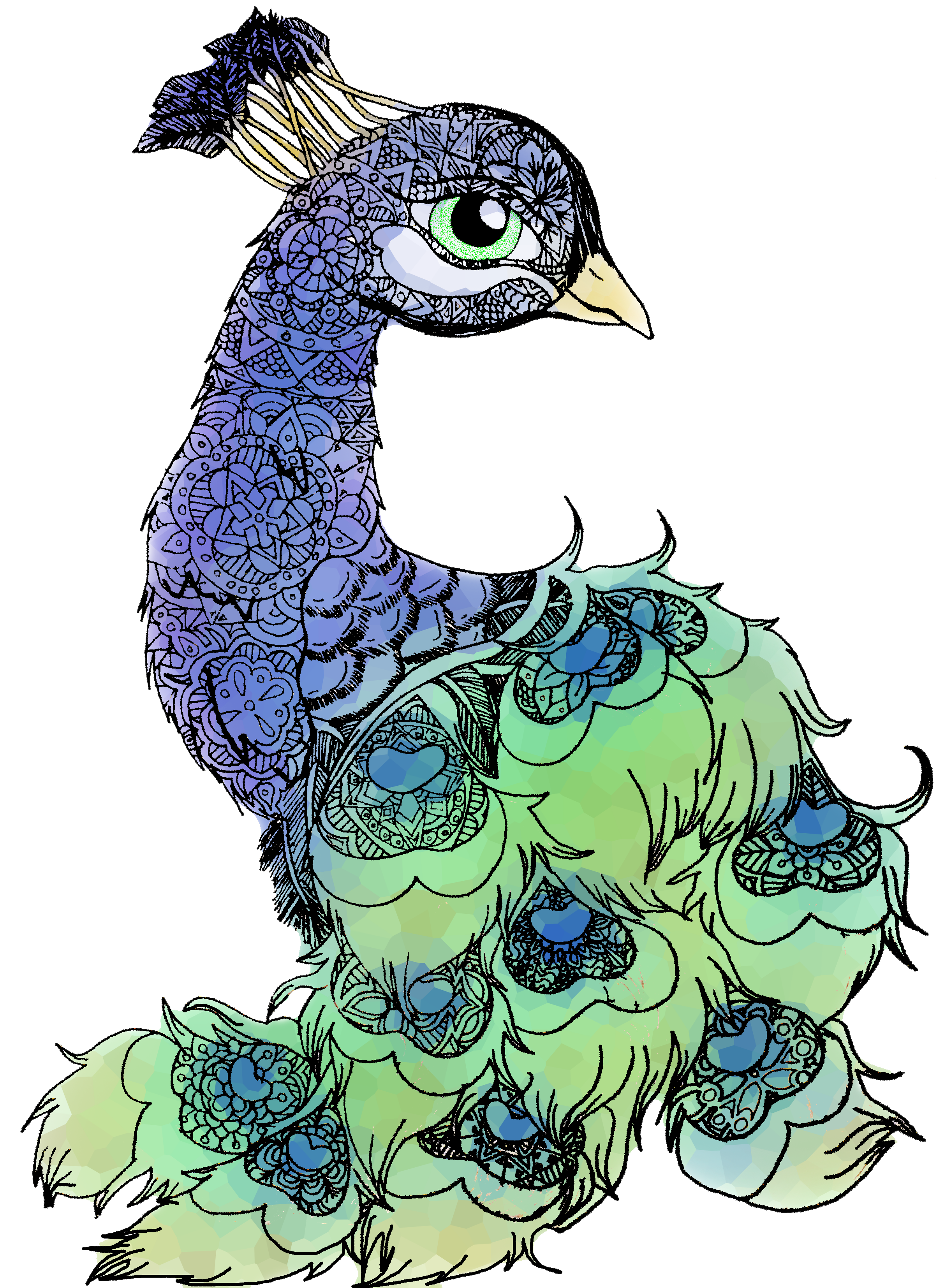 2406x3308 Collection Of Free Peacock Drawing Dead Download On Ui Ex