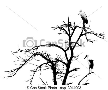 450x377 Dead Tree And Bird Background