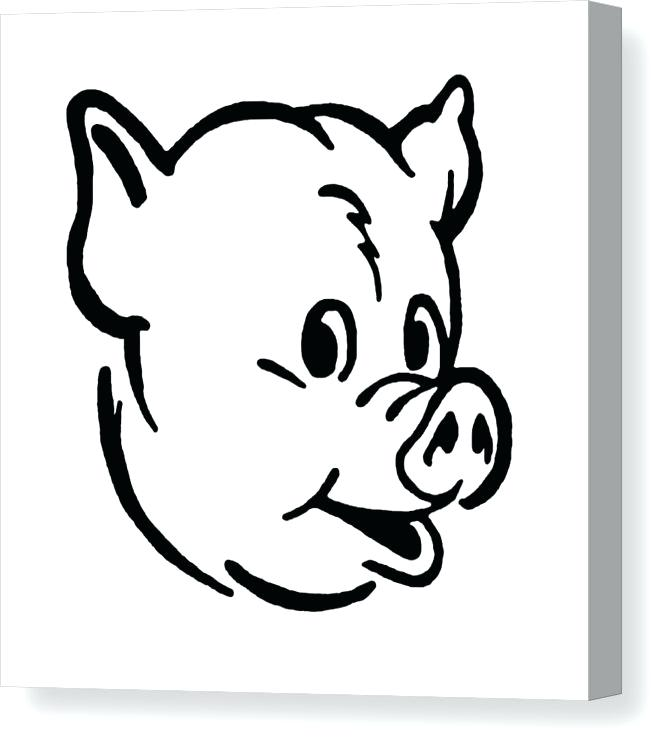 671x750 Pig Head Drawing Pig Head Colouring Pages