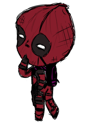 320x427 Hope You Guys Like This Quick Drawing Of Chibi Dead Pool I Tried