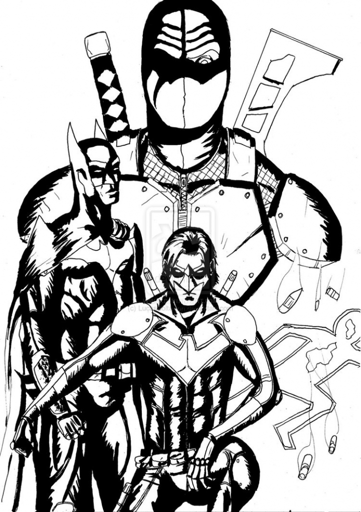723x1024 Deathstroke Coloring Pages