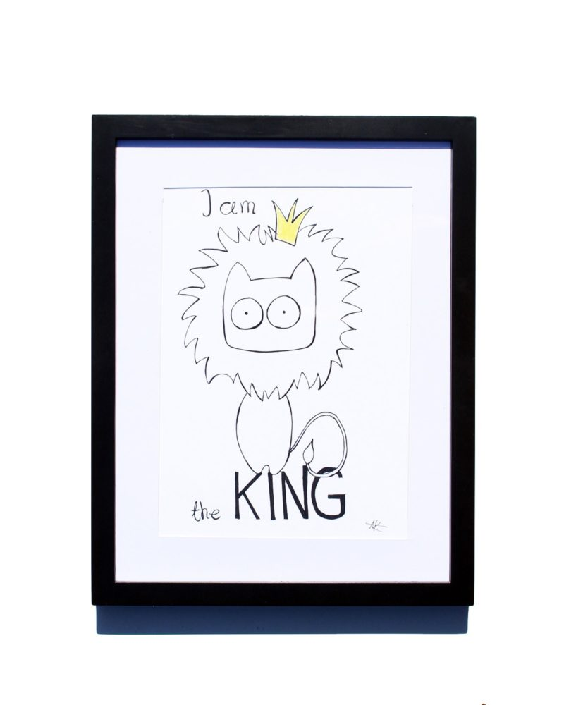 800x1000 Drawing Handmade Lion King, I Am The King Art And Cat