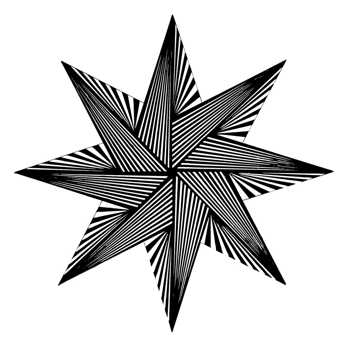 1200x1200 Pointed Star Drawing