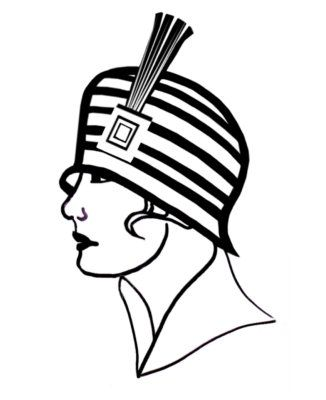 326x400 Vintage Fashion Clip Art Picture Of A Line Drawing