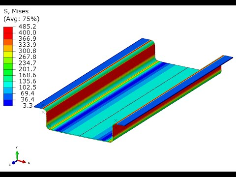 480x360 deep drawing forming a channel abaqus cae implicit standard