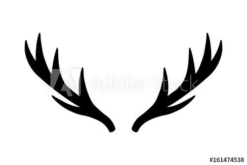 500x334 Deer Antlers Vector Illustration Drawing Isolated Deer Antlers