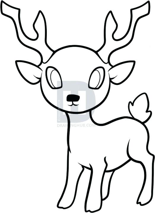 523x720 Easy To Draw Reindeer How To Draw A Reindeer How To Draw