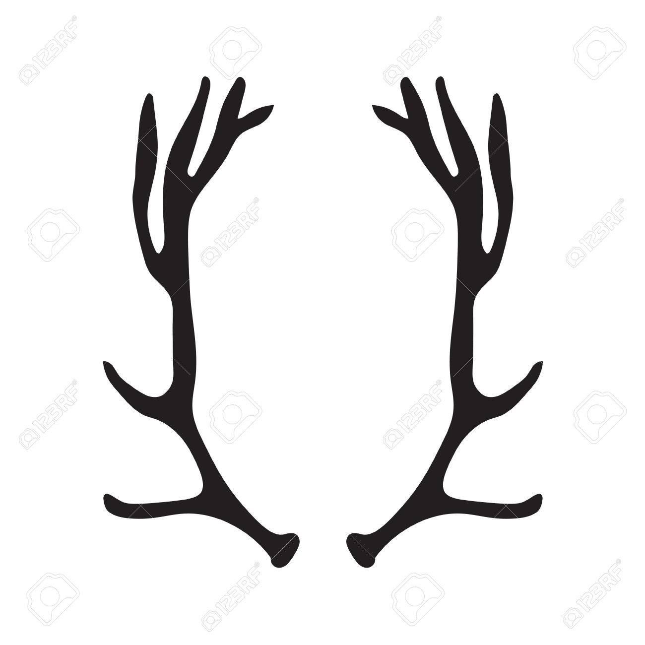 1300x1300 Hand Drawn Deer Antlers Vector Antler