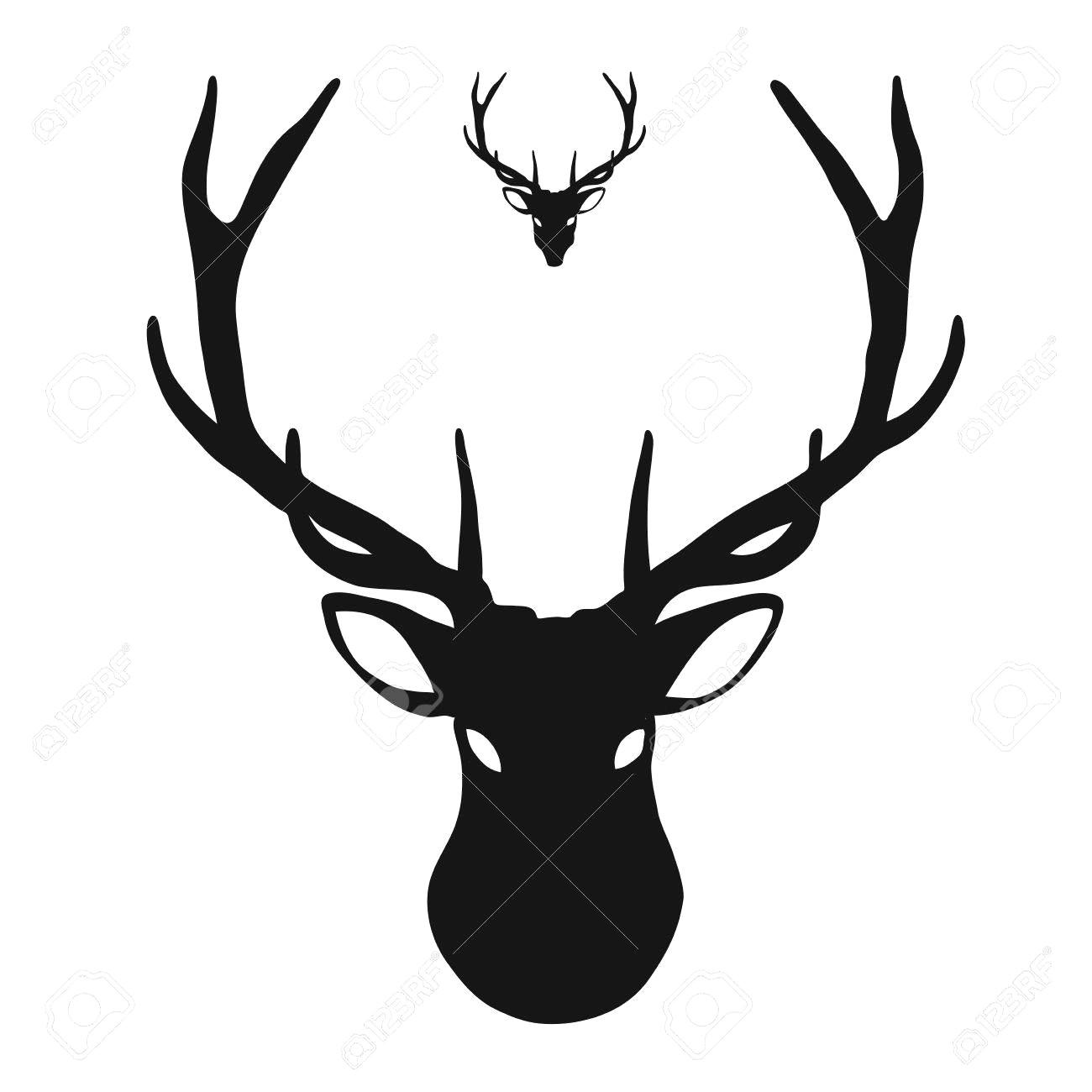 1300x1300 Deer Head Icon Hand Drawn Vector Clipart