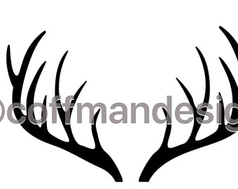 340x270 Antlers Drawing Etsy
