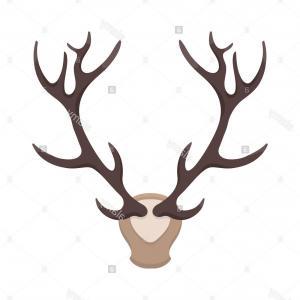 300x300 Best Hd Deer Antler Vector Clip Art Drawing Sohadacouri