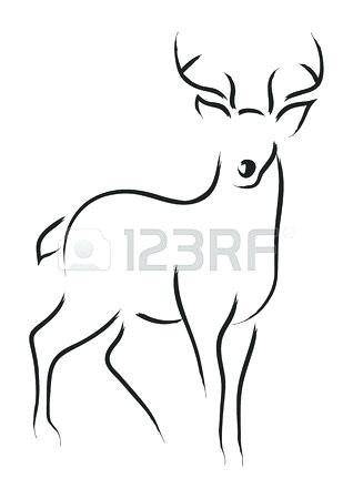 318x450 How To Draw A Easy Deer How To Draw Easy Cartoon Deer