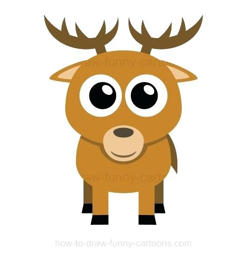 500x522 How To Draw Dear Deer Drawing Draw Deer Pictures