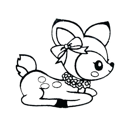 500x500 baby deer drawing cute baby deer cartoon child deer drawing