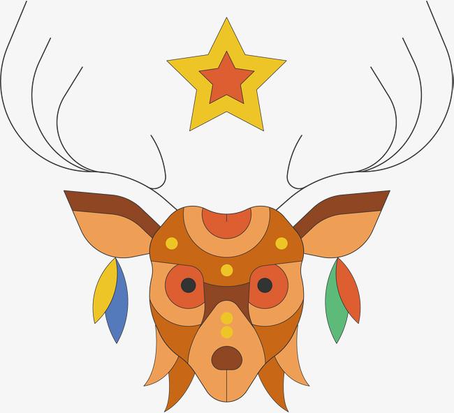 650x592 Cartoon Deer Vector, Sika Deer, Cartoon Hand Drawing, Cartoon