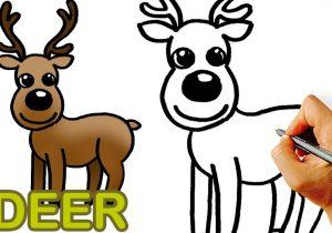 300x210 Draw A Cute Cartoon Deer How To Draw A Fawn