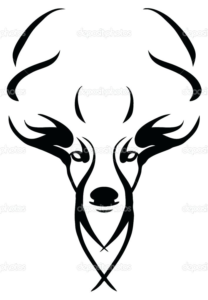 708x1024 easy deer drawings deer drawings whitetail deer drawing easy deer