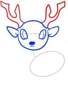 220x302 How To Draw How To Draw A Deer For Kids