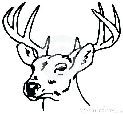 400x370 Raindeer Drawing Reindeer Drawing Easy Reindeer Drawing Step