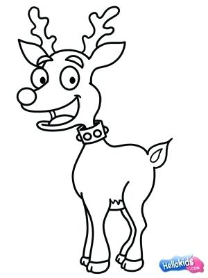 300x400 Reindeer Draw Easy Draw Reindeer Drawing Merry Happy New Year