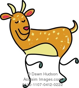 270x300 Clipart Image Of A Whimsical Deer Drawing