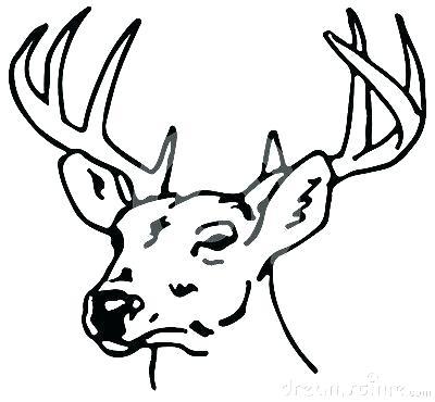 400x370 Drawings Of Reindeer How Simple Reindeer Drawing Step