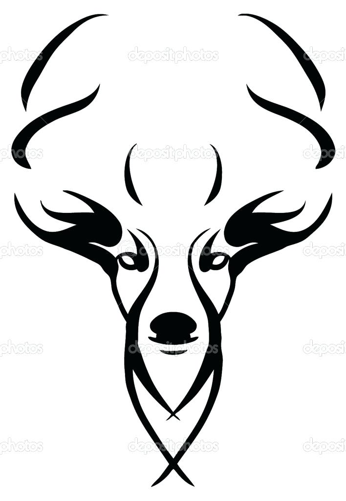 708x1024 easy skull drawings deer skull drawings images of deer skull clip