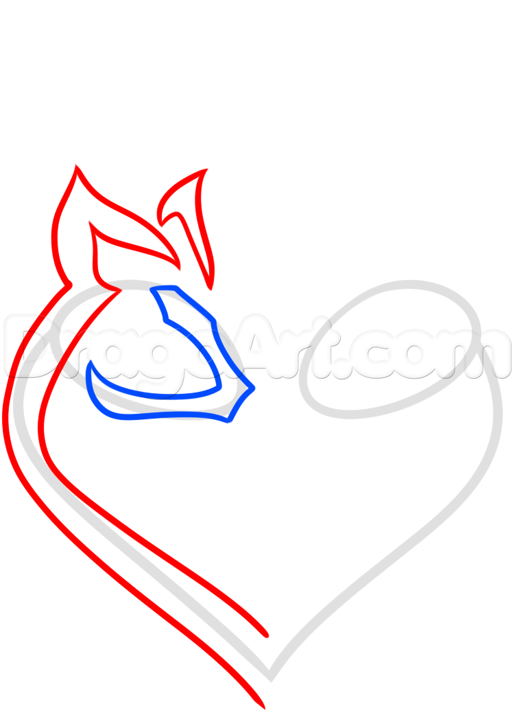 751x1039 How To Draw A Deer Heart Tattoo, Step
