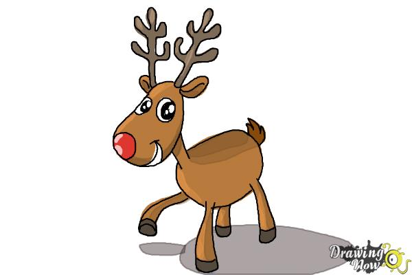 600x400 How To Draw A Reindeer For Kids