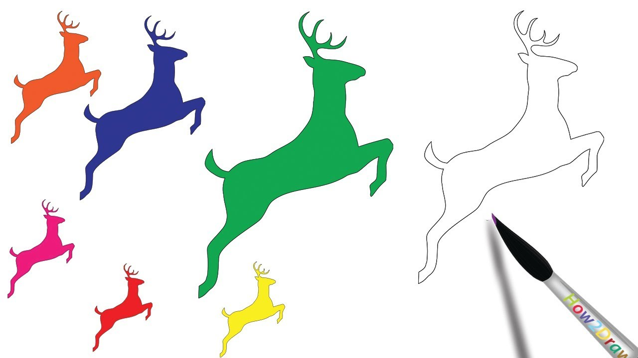 1280x720 Learn Colors With Deer Drawing Step