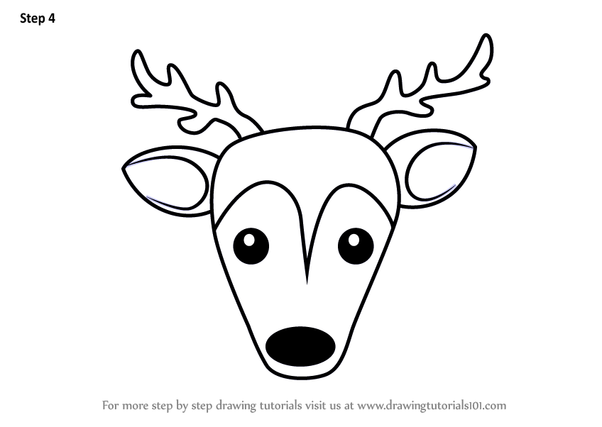 848x602 Learn How To Draw A Sika Deer Face For Kids