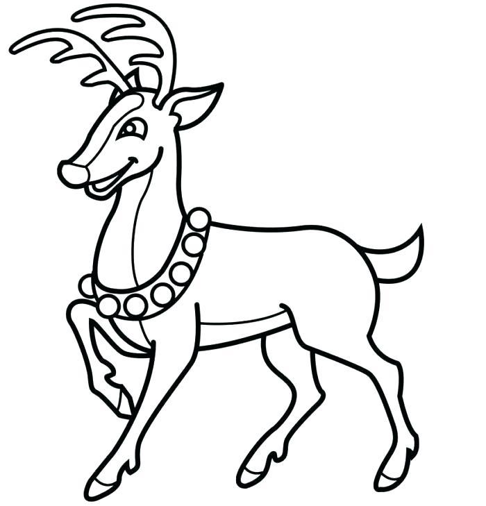 700x729 Reindeer To Draw Deer Reindeer Drawing Images