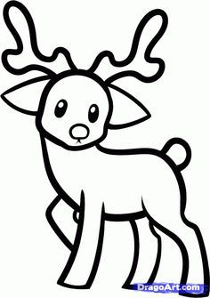 236x335 Raindeer Drawing How To Draw A Reindeer For Kids, Step