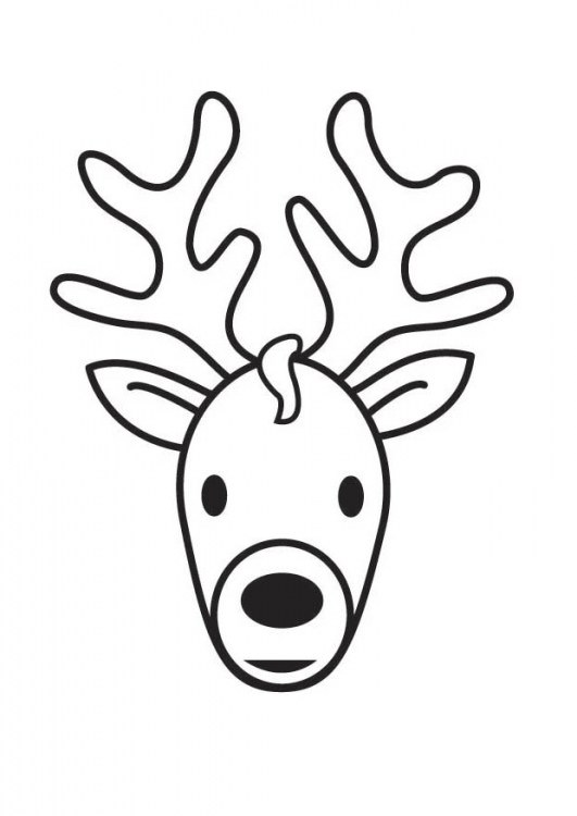 531x750 Deer Face Coloring Pages