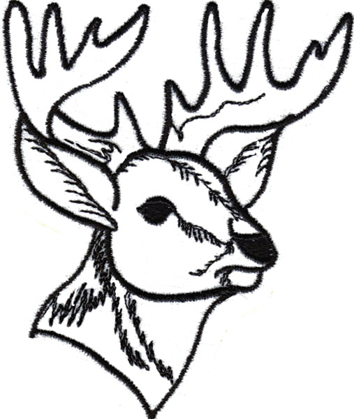 507x600 Deer Head Outline Clipartsco, Reindeer Head Coloring Page