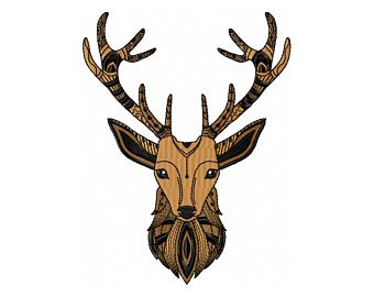 340x270 Deer Face Art Etsy