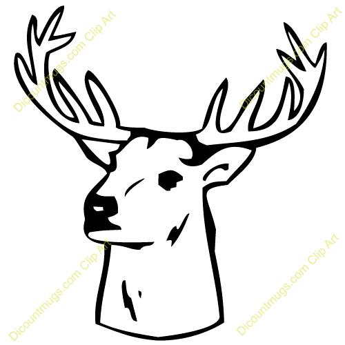 Deer head face. Drawing free download best